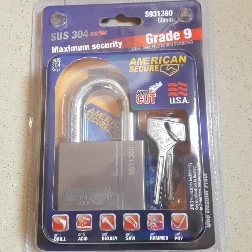 Foto Produk Gembok American Secure 60mm dari Sukses Maju Perkasa