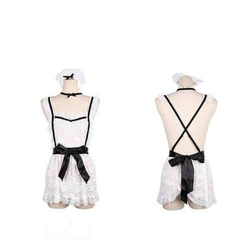 Foto Produk TANYA PREMIUM Sexy Lingerie Costume French Maid Cosplay Kostum Pelayan dari MauSeksi