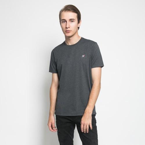 Foto Produk MON AKITA - Florian Men T-Shirt Dark Grey - Kaos Lengan Pendek Abu Tua - Abu-abu, M dari Mon Akita