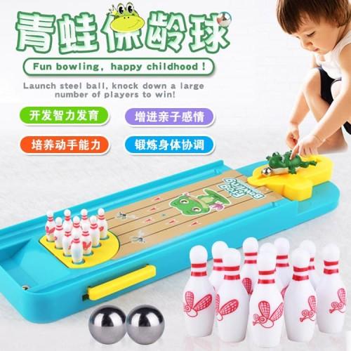 Foto Produk Mainan Interaktif Bowling Mini 3D Bentuk Katak Untuk Anak dari hafami olshop