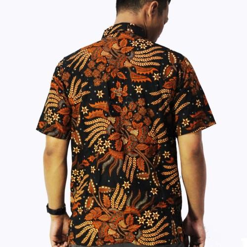 Foto Produk Grosir Batik Murah | Seragam Batik | Batik Cap Tulis Printing Terlaris - Cokelat Tua, M dari Bridgeacc