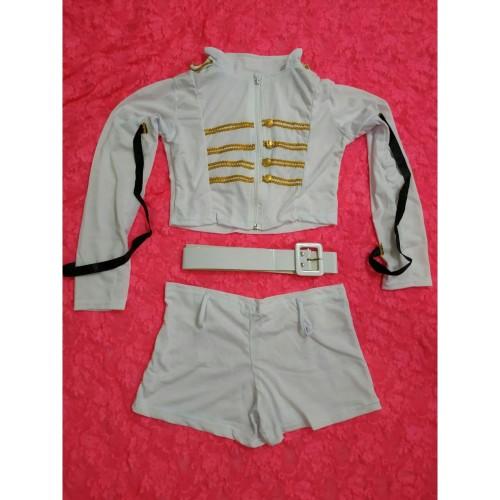 Foto Produk L-1245 - Lingerie Captain Police Woman - White Long Sleeves Costume dari Lingerie X Lingerie