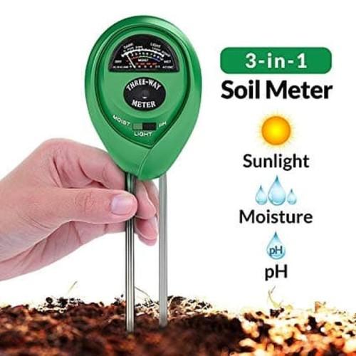Foto Produk Soil Analyzer 3 in 1 (Moisture,PH,Light) Meter Cek Tanah Tester Alat dari Rumix