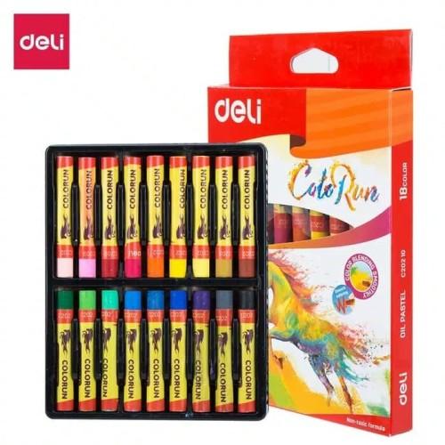 Foto Produk Deli EC20210 School Crayon/Krayon-Oil Pastel Rich Color 18C dari Chelsea&Michelle