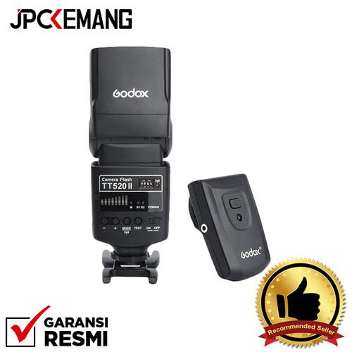 Foto Produk Godox TT520II Flash Built in Receiver + Transmitter GARANSI RESMI dari JPCKemang
