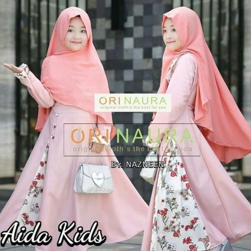 Foto Produk Baju Muslim Anak Perempuan / Baju Gamis Set anak Murah Aida dari B.O.M baju online murah