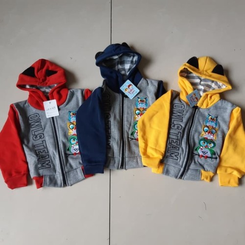 Foto Produk Baby switer zipper jaket anak bayi 1-2 tahun sweater hoodie dari dicko acc