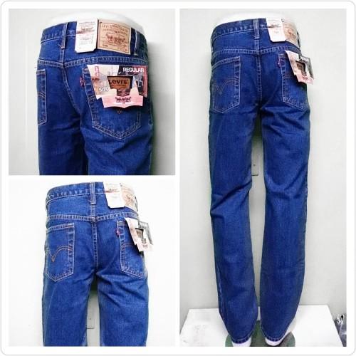 Foto Produk Celana Jeans Denim Bandung ANZ Standar/Regular Biowash 33-37 CO - BIOWASH, 33 dari Anza Shop