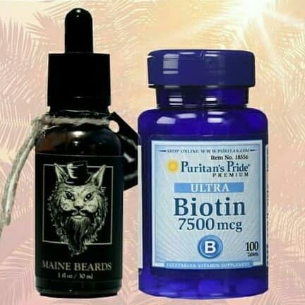 Foto Produk Paket Maine Beards Serum dan Biotin 7500mcg 100 Butir dari Maine Beards