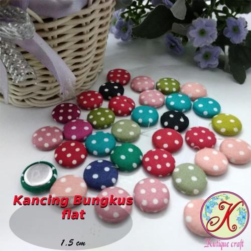 Foto Produk Kancing Bungkus Flat 1,5cm Polka per gross dari Kutique Craft