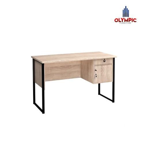 Foto Produk Olympic Meja Kerja Meja Belajar Modern Dengan Kaki Besi / MTS0153 - Krem dari Olympic Furniture