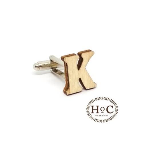 Foto Produk houseofcuff cufflink kancing manset alphabet inisial wedding cufflinks - HURUF K dari House of Cuff