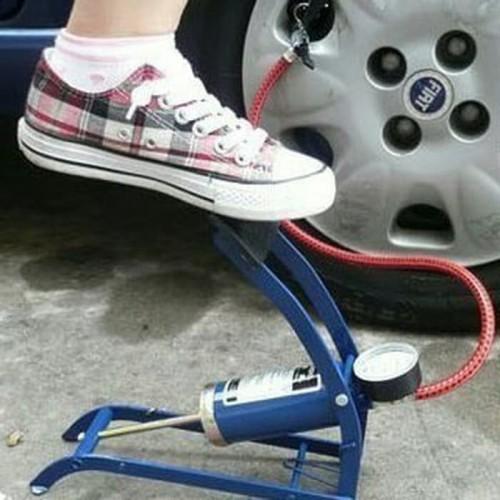 Foto Produk High Pressure Foot Pump Pompa Angin Injak Gas Ban Mobil Motor Sepeda dari lbagstore