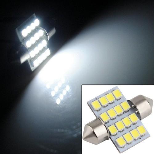 Foto Produk Lampu LED Interior Kabin Plafon Mobil Putih Terang 31mm Festoon 16 SMD dari lbagstore