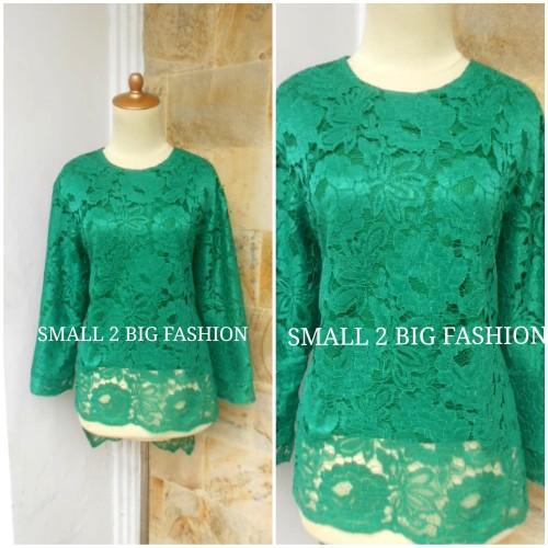 Foto Produk kebaya hijau / kebaya brokat jumbo / kebaya modern xxl xxxl 4L 5L dari Small 2 Big Fashion
