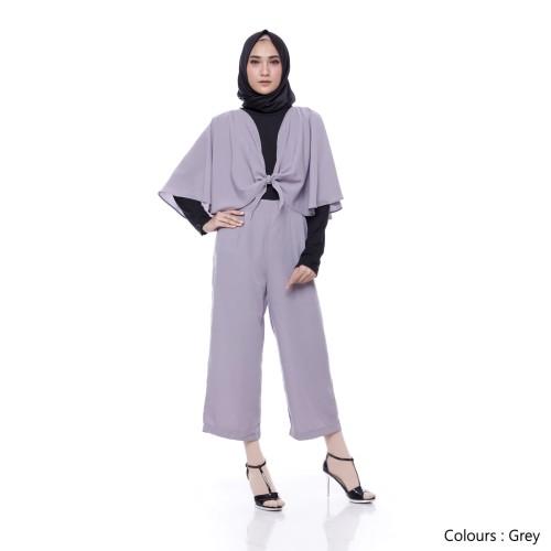Foto Produk Cape Jumpsuit - Dark Grey dari Tazkia Hijab Store