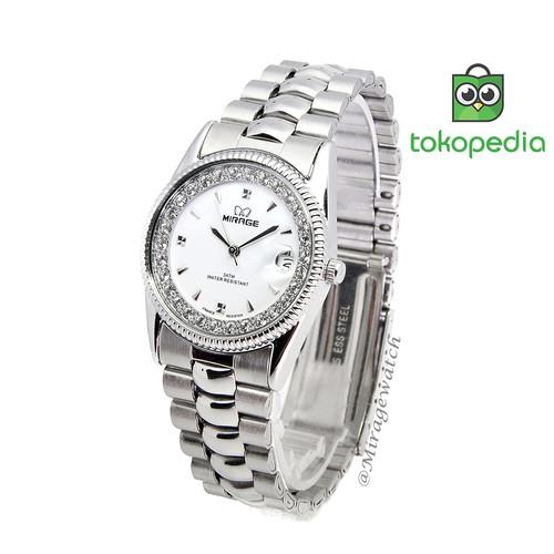 Foto Produk Jam tangan Wanita Mirage Permata Original Silver dari Mirage Watch