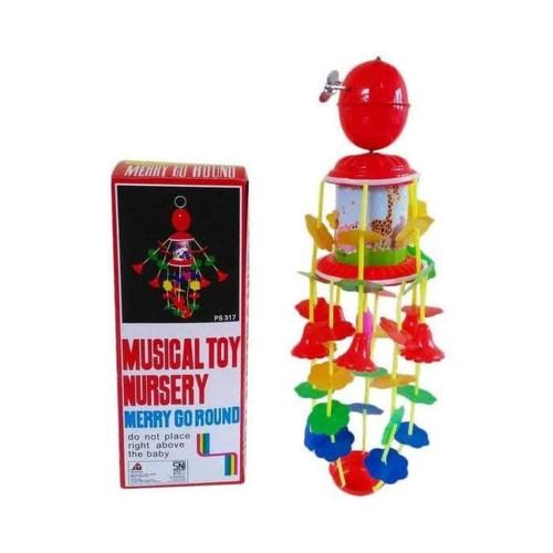 Foto Produk Merry Go Round Musical Toy Nursery Mainan Musik Bayi Gantung Putar dari Grandia Shop