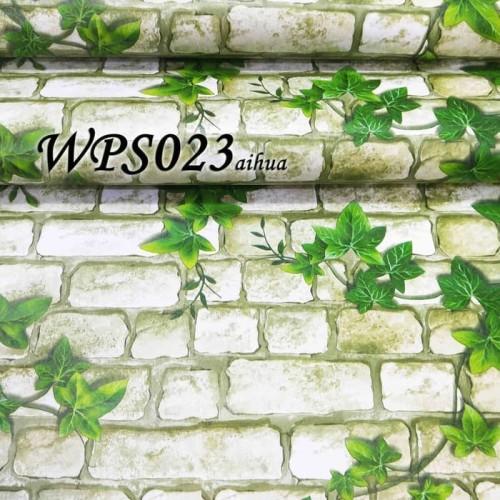Foto Produk WALLPAPER STICKER / WALLPAPER 45CMx5M WPS023 white brick n leaves dari JEJOMART