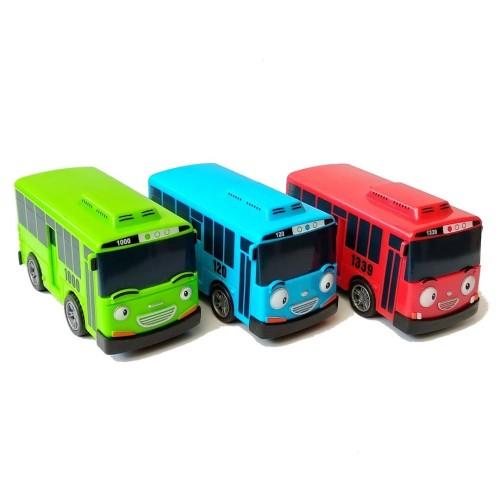 Foto Produk 1pcs Little Bus Tayo Mainan Mobil Pull Back Car - Biru dari Grandia Shop