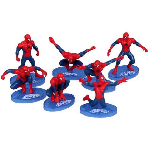 Foto Produk Set 7 pcs Spiderman Action Figure Mainan Anak Laki Pajangan Hiasan Kue dari Grandia Shop