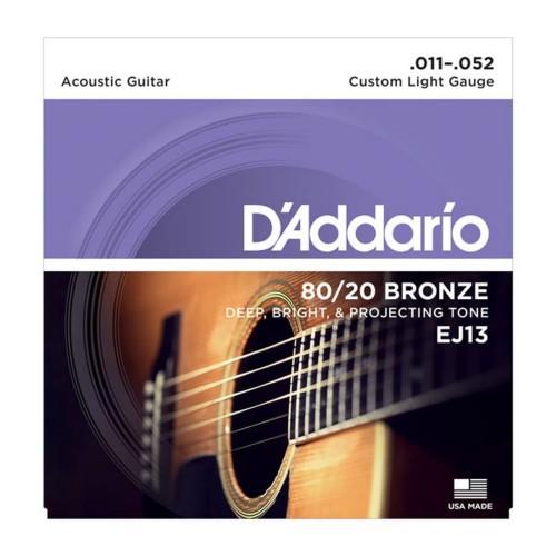 Foto Produk Senar Gitar D'addario Akustik EJ13 Original .011 - .052 dari Grandia Shop
