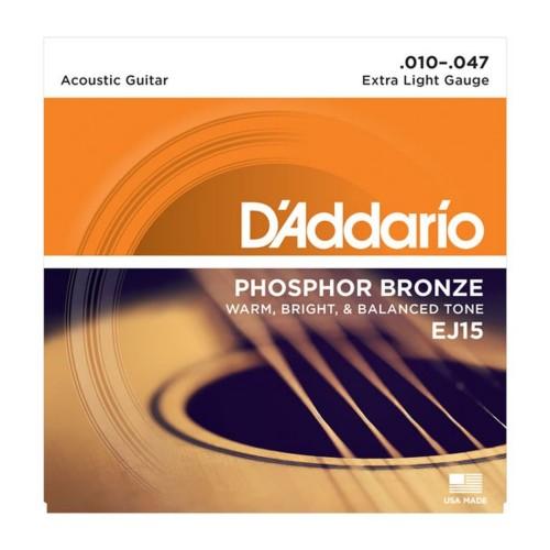 Foto Produk Senar Gitar D'addario Akustik EJ15 Original .010 - .047 dari Grandia Shop
