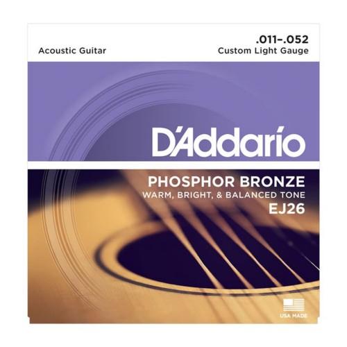 Foto Produk Senar Gitar D'addario Akustik EJ26 Original .011 - .052 dari Grandia Shop