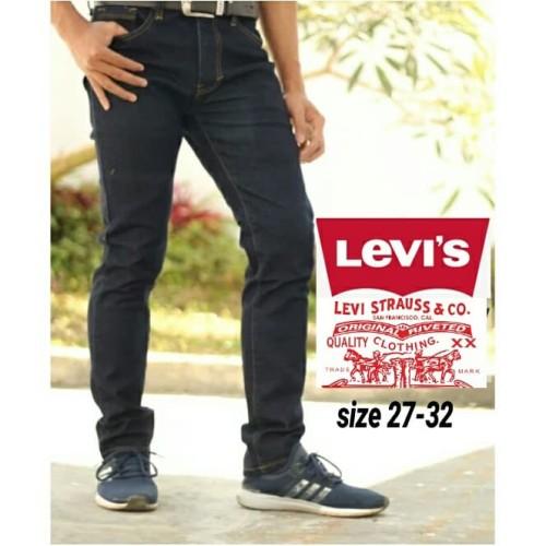 Foto Produk Celana Jeans Slimfit Melar Pria - Hitam, 32 dari kayu shop
