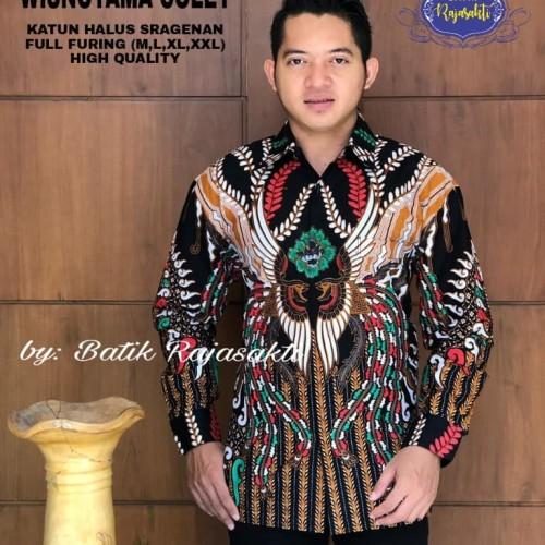 Foto Produk Batik Solo Kemeja Batik Panjang Wisnutama Colet Rajasakti Batik Amanah - M dari Batik Solo Amanah
