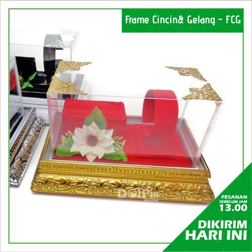 Foto Produk Nampan Frame Tempat Perhiasan Cincin Gelang Kotak Hantaran Seserahan - Putih dari Kotak Seserahan Dolpin