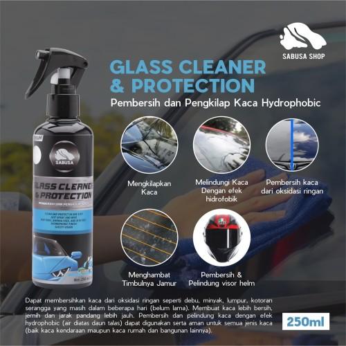 Foto Produk Glass Cleaner Water Repellent Pelapis Kaca Mobil Efek Daun Talas 250ml dari Sabusa shop