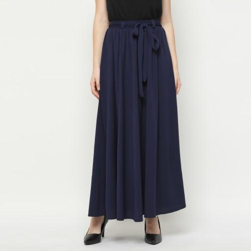 Foto Produk Eiza by duapola Remple Ribbon Maxi Skirt 88188 - Navy dari Eiza