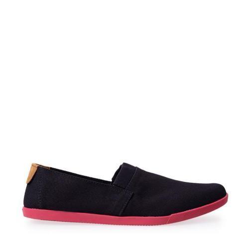 Foto Produk Minarno Canvas Slip-On NB013 - Black Red - Hitam, 44 dari Minarno Clothing Company