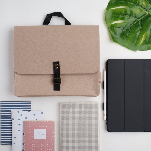 Foto Produk UCHII Felt Hand Bag Tab File Portable Folder | Tas Mobile Unisex Kulit dari uchii store