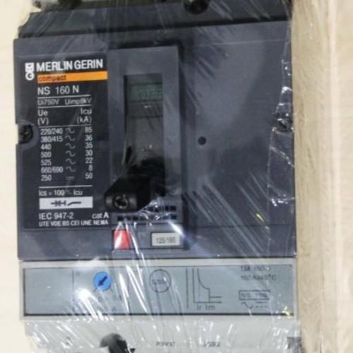 Foto Produk MCCB MERLIN GERIN COMPACT NS160N NS160 N 3P 160A 160 A TM160D 50kA dari SURYA-ELEKTRIK