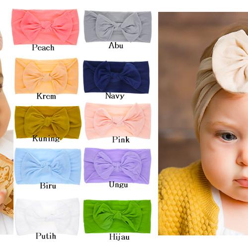 Foto Produk Bando Bayi Lucu / Bandana Bayi / Headband Bayi Cantik - ABU dari M&K ( Mom & Kids)