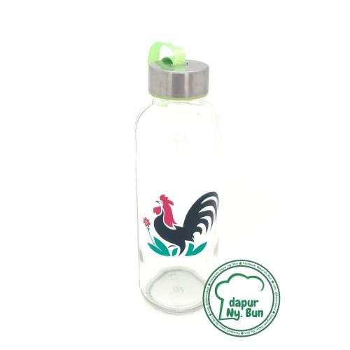 Foto Produk Botol Minum Kaca AYAM JAGO / Ukuran 420ml / Round Bottle / Sedang dari Dapur Ny.Bun