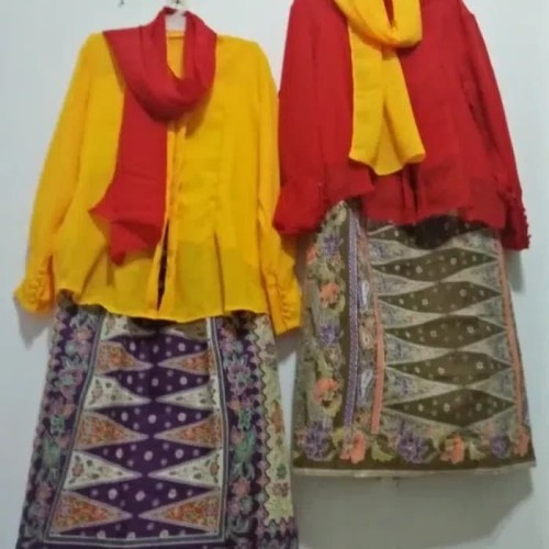 Foto Produk Pakaian adat betawi anak Pr - Baju none jakarta - Merah, S dari FAUZAN GHIFFARY SHOP
