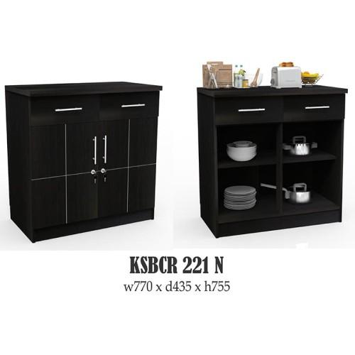 Foto Produk SUPER Kitchen Set Bawah 2 Pintu KSBCR 221 - Hitam dari Super Furniture Online