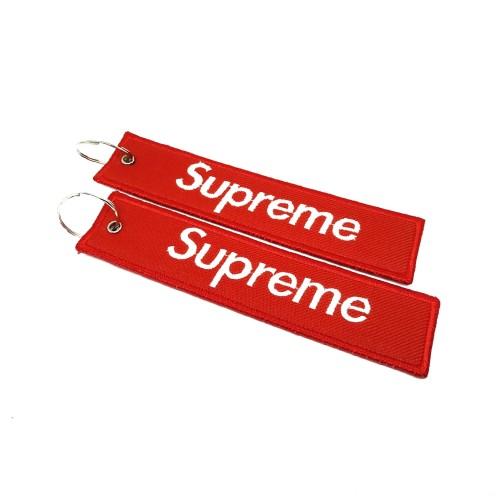 Foto Produk Gantungan Kunci Bordir Motor/Mobil SUPREME Premium Murah dari AB Embroidery Store