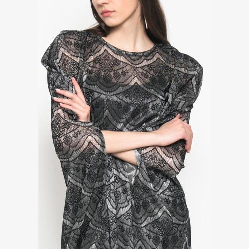 Foto Produk Eiza by duapola Sheer Lace Kaftan 9977 - Black dari Eiza