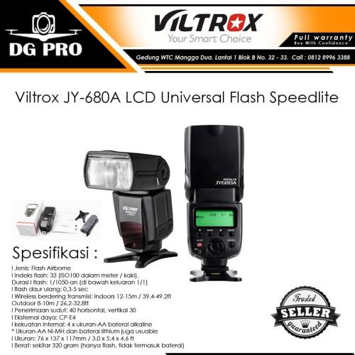 Foto Produk Viltrox JY-680A LCD Universal Flash Speedlite - Flash JY680A dari DG PRO