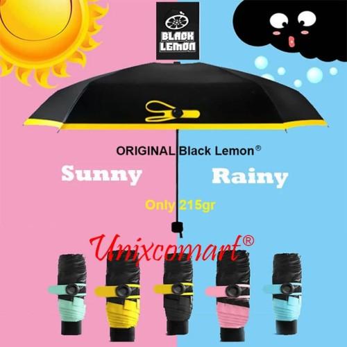 Foto Produk Mini Pocket Umbrella / Payung Lipat Super Mini / Black Lemon dari Unixcomart