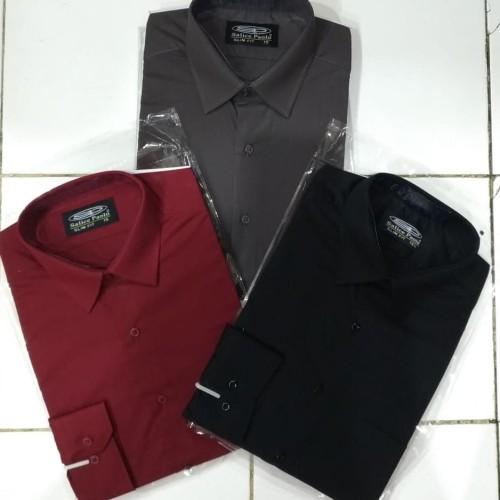Foto Produk Kemeja Salice Paolo Polos Panjang Slim fit Exclusive - Hitam, S dari PAS MANTAFFF
