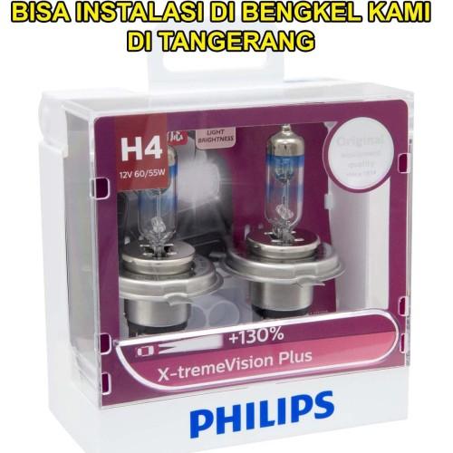 Foto Produk Lampu Mobil Philips XTREME VISION PLUS H4 12V +130% Made in Poland dari Bohlam HID