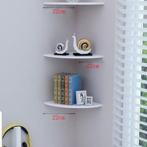 Foto Produk Rak sudut 3 susun Dekorasi dinding A640 dari Mega-Persada