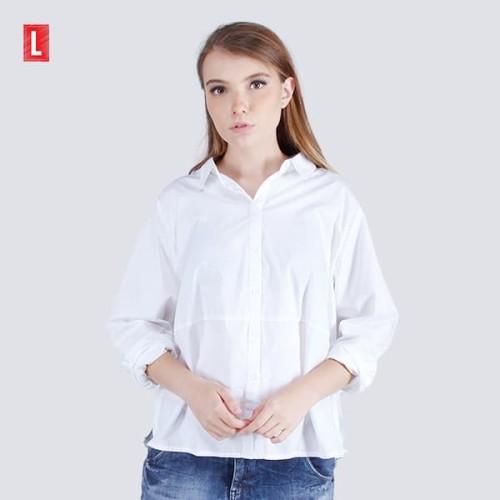 Foto Produk Logo Jeans Shirt Pow Offwhite 24620L5OW - Putih, L dari Logo Jeans