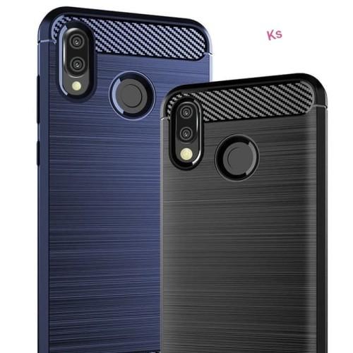 Foto Produk Case Huawei Honor Play Luxury Carbon Fiber Softcase - Navy dari kitty shop accesories