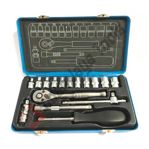 "Foto Produk MULTIPRO Kunci Sok Set 1/4"" 17 pcs Box BESI - Shock Socket Set tekiro dari Indah Jaya Tools"
